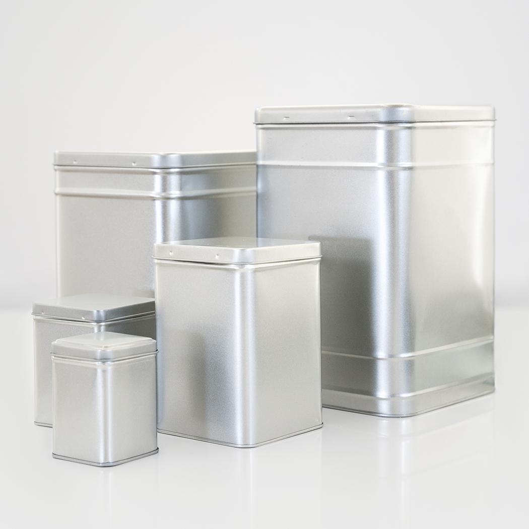 Scatole porta tè infusi tisane di metallo diverse dimensioni e personalizzabili